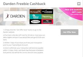 darden gift card discount savvy spending hot free 10 darden gift card for new top