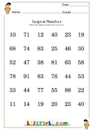 find the largest number worksheets printable numbers downloadable