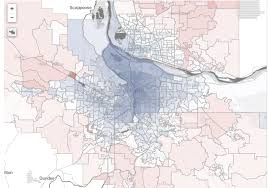 Troutdale Oregon Map is your neighborhood red or blue find out with our portland area