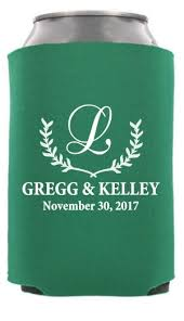 custom wedding koozies wedding can coolers totallyweddingkoozies