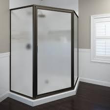 Basco Shower Door Deluxe Framed 3 16 Inch Glass Neo Angle Swing Basco Shower Doors