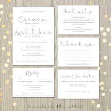 Blank Wedding Invitation Kits Printable Wedding Invitation Suite Script Invitation Kit Modern