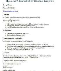 administration resumes bachelor business administration resume sample accountant