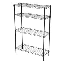 hdx 36 in x 14 in 4 tier matte black wire shelf eh wsthdus 004mb
