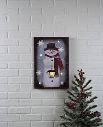 lighted canvas art with timer amazon com winter time snowman lighted canvas wall art with timer