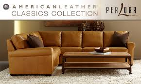 Perlora Modern  Leather Furniture PittsburghAmerican Leather - Henley leather sofa
