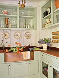 Farmhouse Style Kitchen Cabinets Kitchen Farm Style Copper Kitchen Sink With Butcherblock