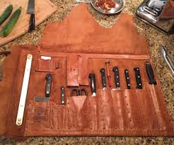 leather chef u0027s knife roll step daughters business card holders