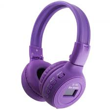 Violet Blue Scenery Bs 868 Digital Wireless Bluetooth Headset Violet
