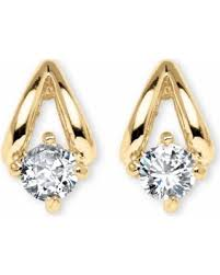 types of earring backs for pierced ears deal alert 80 tcw cubic zirconia earrings in yellow gold