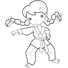 karate coloring pages for kids coloring pages pinterest