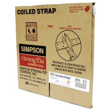 Coil Nails Home Depot by Simpson Strong Tie 150 Ft 16 Gauge Coiled Strap Cs16 The Home Depot