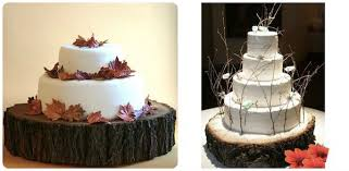 sustainable rustic wood cake stands mywedding