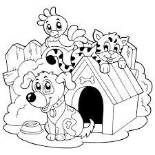 Coloriage chien et chat à imprimer  Magicmamancom