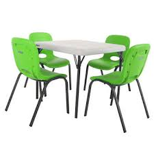 daycare table and chairs lifetime daycare learning costco