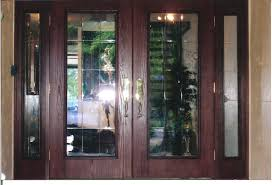 interior glass double doors charming modern french doors interior design with brown brick wall