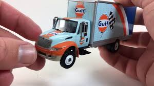 gulf racing truck greenlight gulf box truck youtube
