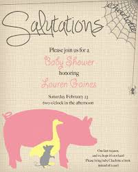 charlottes web baby shower invitation via sail south home farm