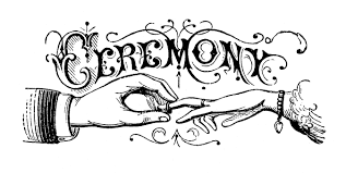 sle wedding ceremony program vintage black and white clip wedding typography the