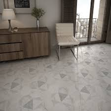 somertile 7x8 inch carra hexagon peak porcelain floor and wall
