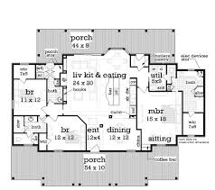 southern style house plan 3 beds 2 50 baths 1832 sq ft plan 45 376