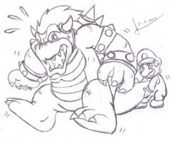 bowser jr to print coloring pages for kids and for adults