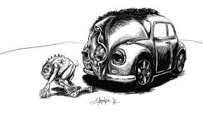 volkswagen bug drawing spacefish u2013 jim agpalza