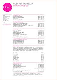 Salon Client Information Sheet Template 4 Salon Price List Template Outline Templates