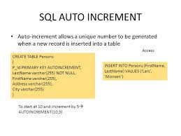 sql create table primary key autoincrement from sql from ppt download