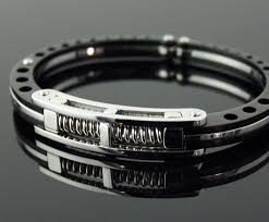 titanium bracelet cuff images Cuffed titanium bracelet the awesomer jpg