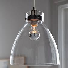 Pendants Light Industrial Pendant Glass West Elm