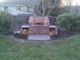 Brick Fire Pits by Bull Mountain Raised Fire Pit Traditional Landscape Portland