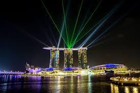 Bay Bridge Light Show The World U0027s Coolest Infinity Pool Marina Bay Sands