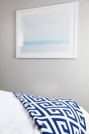 nautical guest room lemon stripes