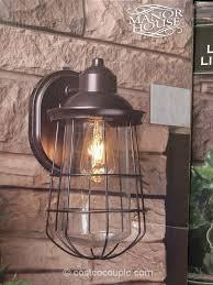 Solar Pillar Lights Costco - sonoma 1 light 16 black twin pack outdoor wall light at menards