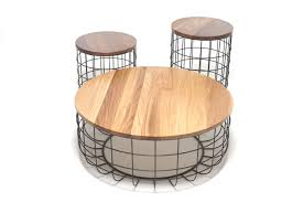 Wire Side Table Kala U2013 Squarial Coffee Table With Wire Frame U2013 Waffle House