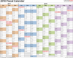 Kalender 2018 Free Fiscal Calendars 2018 As Free Printable Pdf Templates