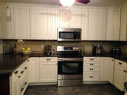 Black And White Kitchen Interior by Slate Backsplash Tiles Interior Modern Black And White Kitchen