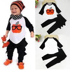 Baby Halloween Costumes Pumpkin Toddler Kids Baby Boy Halloween Costume Pumpkin Shirt