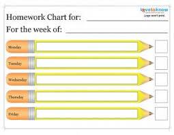printable homework charts lovetoknow