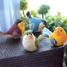 creative resin birds decor garden gardening animal ornaments