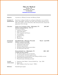Resume Examples Summary by Professional Medical Assistant Resume Sample Resume For Medical