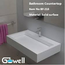 solid surface bathroom sinks acrylic solid surface bathroom vanity top purchasing souring agent