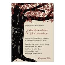 oak tree wedding invitations rustic country wedding invitations