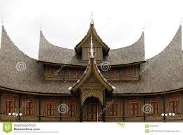 traditional house on west sumatra indonesia stock photo image