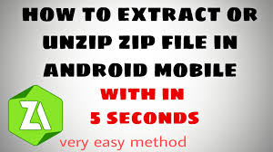 how to unzip files on android how to extract zip file in android mobile zip file extrac app