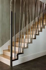 Stainless Steel Banister Stairs Stainless Steel Railings Interior Modern Stair Railing