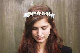 hippie flower headbands white crown flower crown halo festival