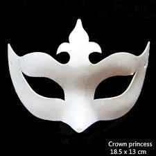 white masquerade masks for women aliexpress buy amazing unpainted white paper various