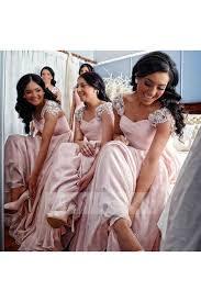 bridesmaid dress shops shop discount cap sleeve chiffon blush bridesmaid dress with soft
